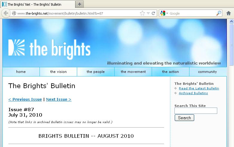 The Brights Bulletin